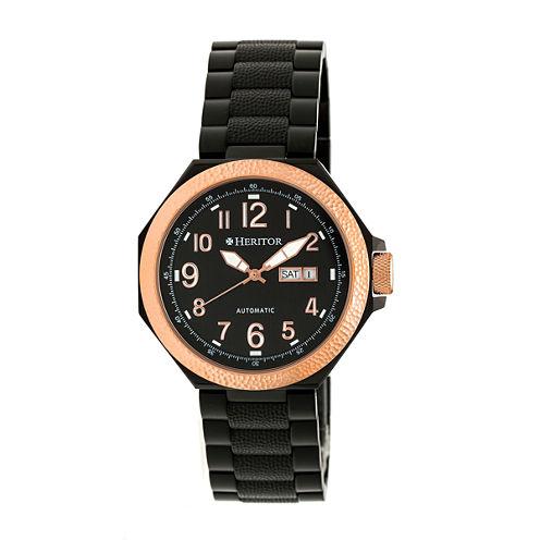 Heritor Spartacus Mens Black Bracelet Watch-Herhr5406