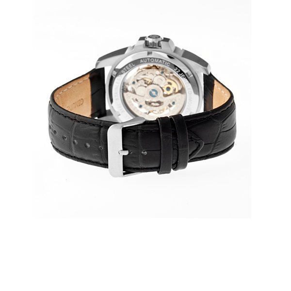 Heritor Armstrong Mens Black Strap Watch-Herhr3401