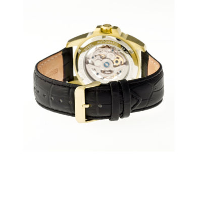 Heritor Armstrong Mens Black Strap Watch-Herhr3403