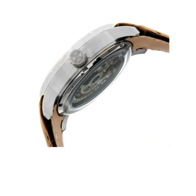 Heritor Ryder Mens Brown Strap Watch-Herhr4603