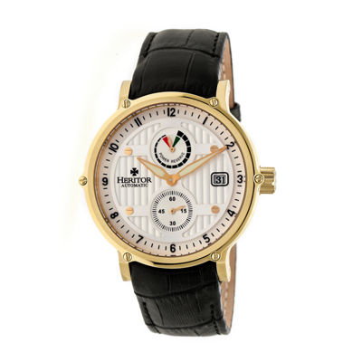 Heritor Leopold Mens Black Strap Watch-Herhr4705