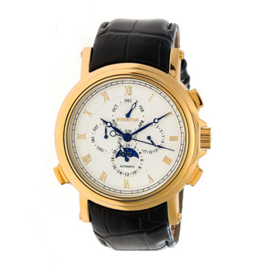 Heritor Kingsley Mens Black Strap Watch-Herhr4803