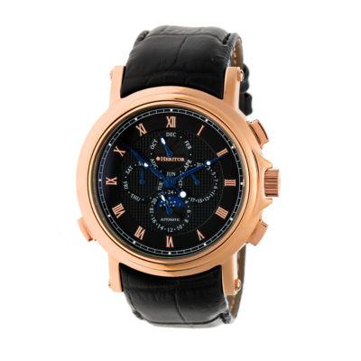 Heritor Kingsley Mens Black Strap Watch-Herhr4805