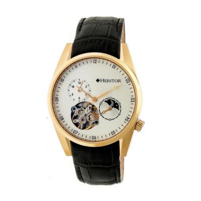 Heritor Alexander Mens Black Strap Watch-Herhr4903