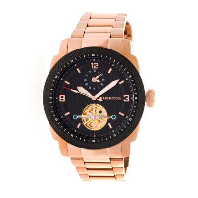 Heritor Helmsley Mens Rose Goldtone Bracelet Watch-Herhr5004