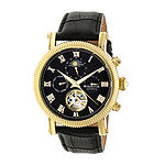 Heritor Winston Mens Automatic Black Leather Strap Watch-Herhr5204