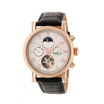 Heritor Winston Mens Black Strap Watch-Herhr5205