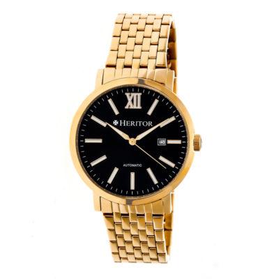 Heritor Bristol Mens Gold Tone Bracelet Watch-Herhr5304