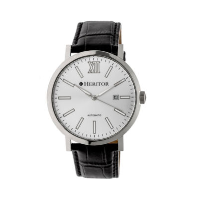 Heritor Bristol Mens Black Strap Watch-Herhr5305
