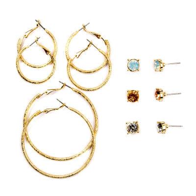 Arizona 12-pc. Multi Color Earring Set