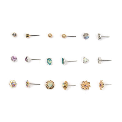 Decree 18-pc. Multi Color Earring Set
