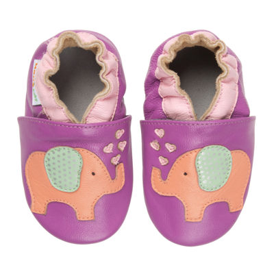 Momo Baby Lovey Elephant Girls Crib Shoes