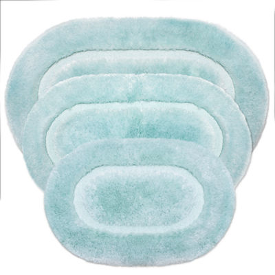 Chiffon Oval Bath Rug Collection