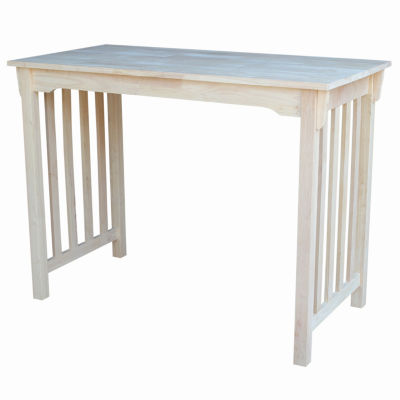 Unfinished Mission Rectangular Wood-Top Dining Table
