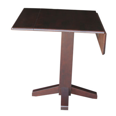 Dual Drop Leaf Square Wood-Top Dining Table