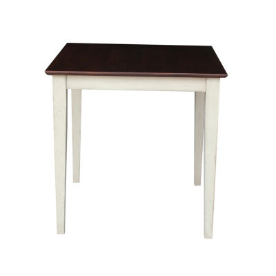 Solid Wood Top With Shaker Legs Square Wood-Top Dining Table
