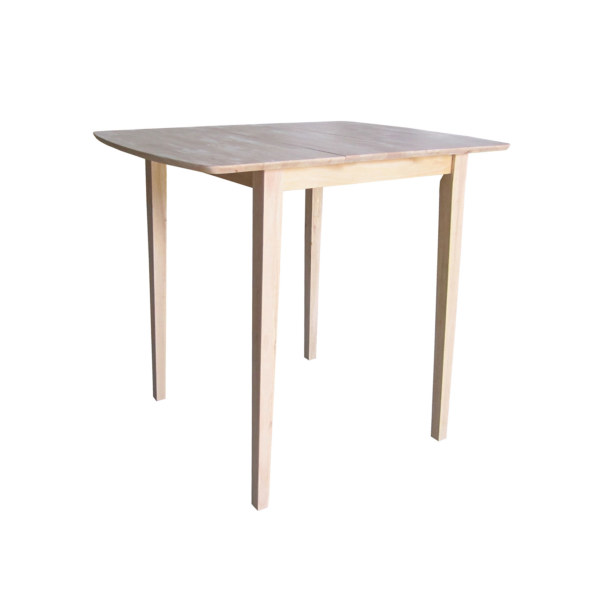 Unfinished Butterfly Extension Square Wood-Top Dining Table