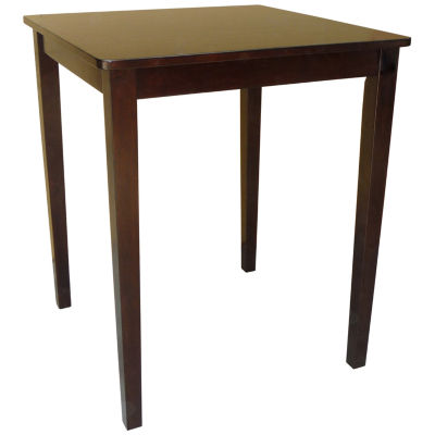 Shaker Styled Square Wood-Top Dining Table