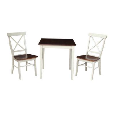 X-Back 3-pc. Square Dining Set