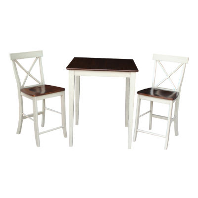 Gathering 3-pc. Counter Height Square Dining Set