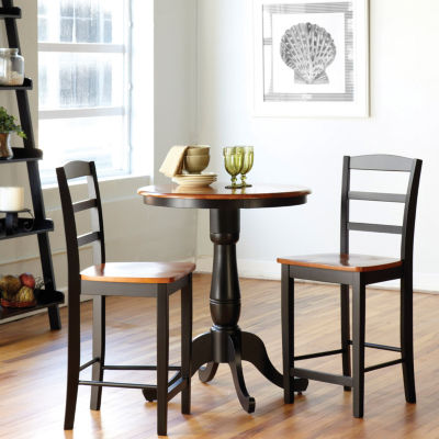 Pedestal 3 Pc. Counter Height Round Dining Set