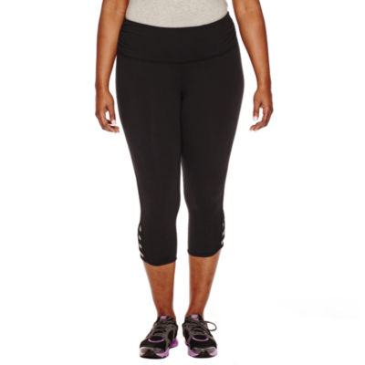 Xersion Cut Out Workout Capris Plus