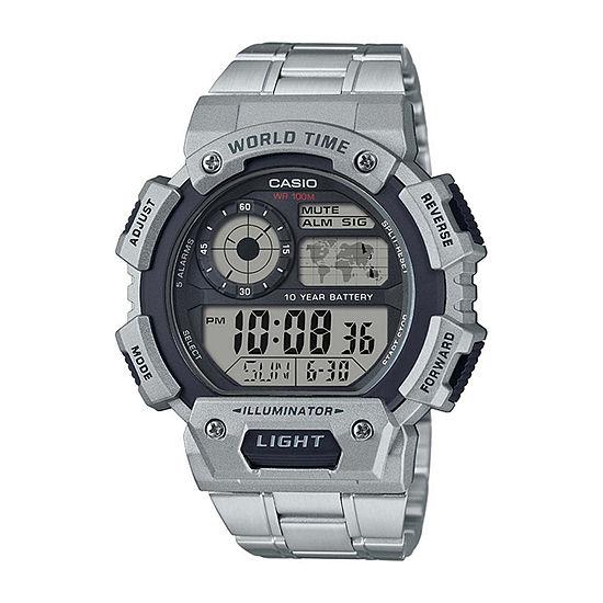 Casio Mens Gray Strap Watch-Ae1400whd-1av