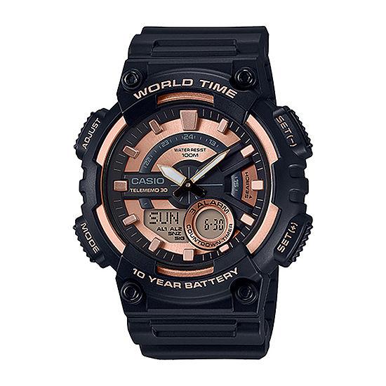 Casio Mens Black Strap Watch-Aeq110w-1a3v