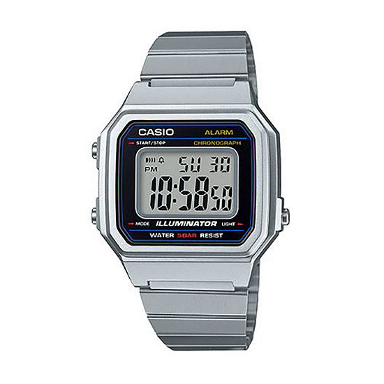 Casio Mens Silver Tone Strap Watch-B650wd-1acf
