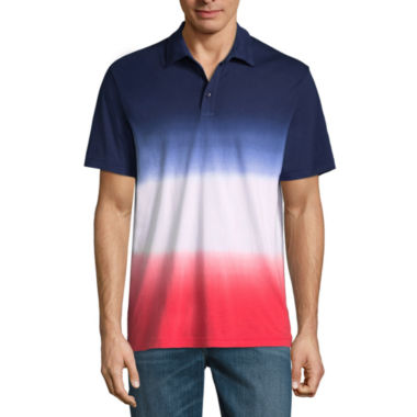 St. John's Bay Short Sleeve Ombre Jersey Polo Shirt Slim