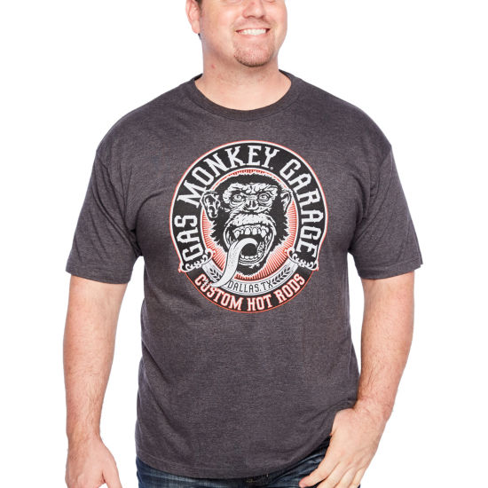 Gas Monkey Propaganda Mens Crew Neck Short Sleeve Graphic T-Shirt-Big and Tall
