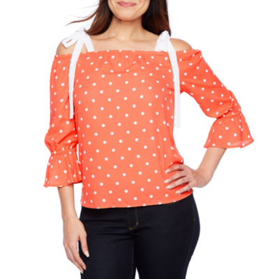 Bold Elements Bell Sleeve Off The Shoulder Top