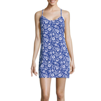 City Streets Floral Knit Swimsuit Cover-Up Dress-Juniors