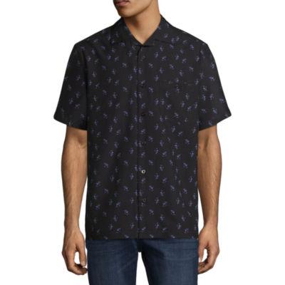 Haggar Short Sleeve Button-Front Shirt-Big and Tall