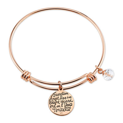 Footnotes Rose Tone Bangle Bracelet