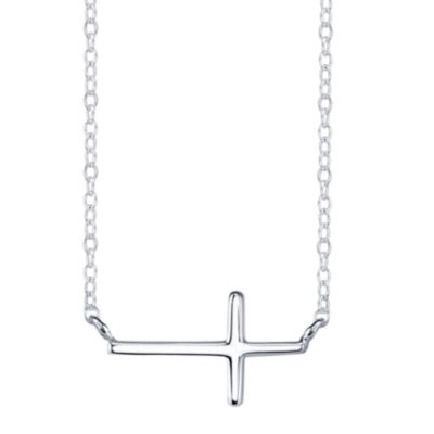 Footnotes Sterling Silver Mini Neck Test Womens Sterling Silver Pendant Necklace