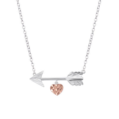 Footnotes Footnotes Womens Sterling Silver Heart Pendant Necklace