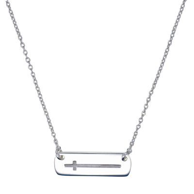 Footnotes Womens Sterling Silver Cross Pendant Necklace