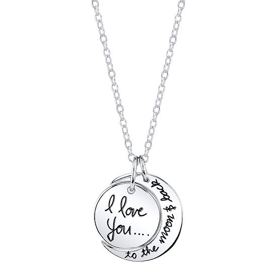 Footnotes Sterling Silver 18 Inch Cable Round Pendant Necklace