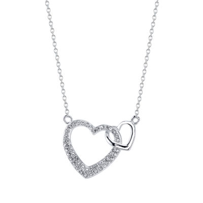 Footnotes Womens Crystal Heart Pendant Necklace