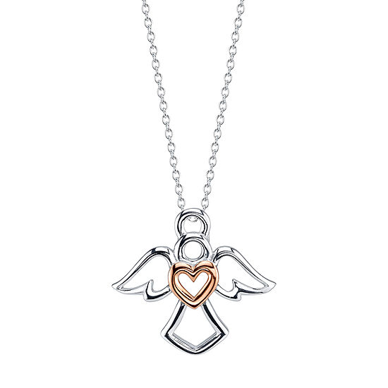 Footnotes Angel Sterling Silver 18 Inch Cable Pendant Necklace