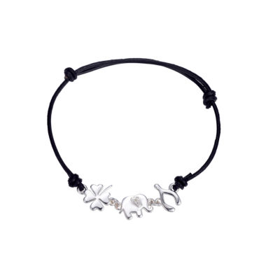 Footnotes Footnotes Womens Clear Silver Over Brass Bolo Bracelet