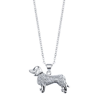 Sparkle Allure 6227 Crystal Kingdom Critter Set Aug 2017 Womens Clear Silver Over Brass Pendant Necklace