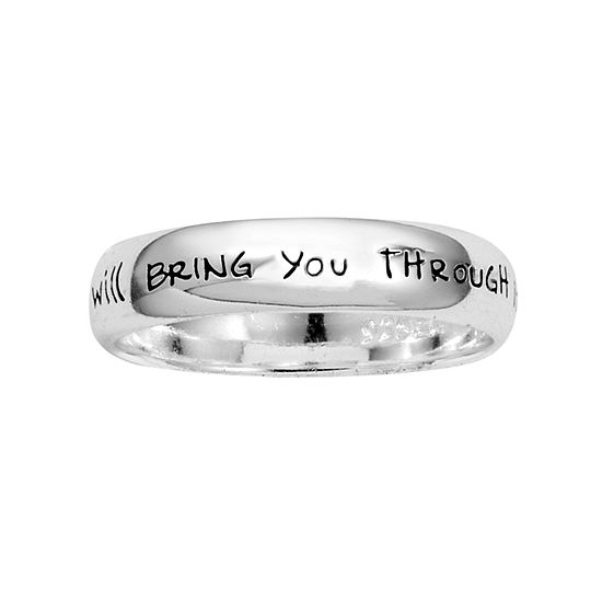 Footnotes Faith Sterling Silver Band