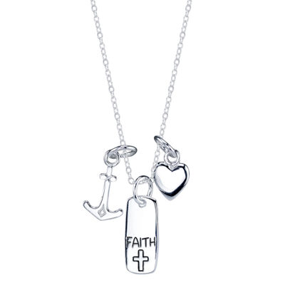 Footnotes Footnotes Womens Heart Pendant Necklace