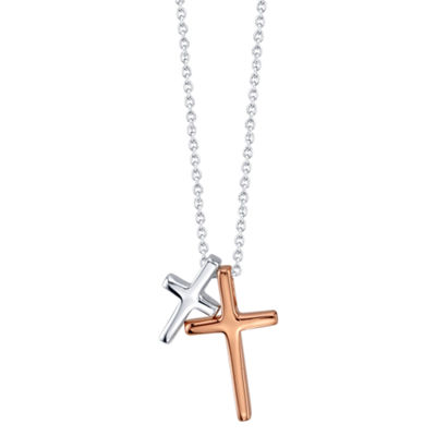 Footnotes Womens Cross Pendant Necklace