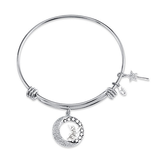 Disney Collection Pure Silver Over Brass Solid Tinker Bell Bangle Bracelet