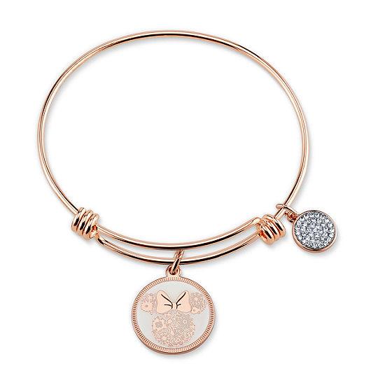Disney Minnie Mouse Silver Over Brass Bangle Bracelet