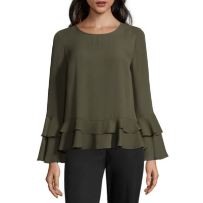 Worthington Tiered Ruffle Blouse - Tall