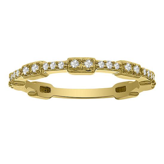 2MM 1/6 CT. T.W. Genuine White Diamond 14K Gold Band
